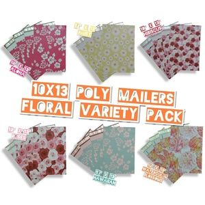 """120 Mix Floral Poly Mailers 10""""x13"""" (20 ea)"""